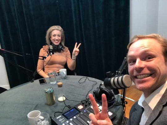 Deltagare i podcast studion