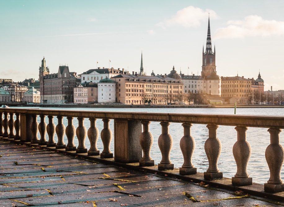 Utsikt i centrala Stockholm